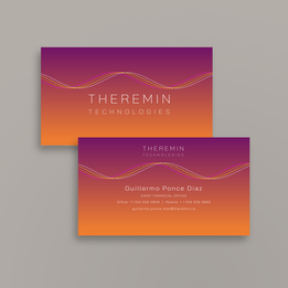 Theremin Technologies | Business card design | variant two