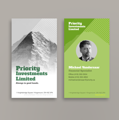 Priority Investments Ltd | Business card design