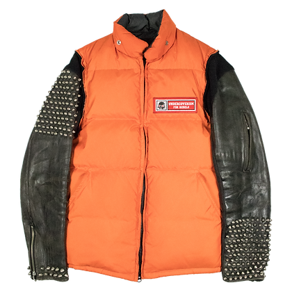 Undercover: AW05 Orange Studded Puffer Jacket