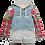 Thumbnail: Number (N)ine: AW05 Red Plaid Hybrid Docking Jacket