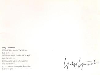 Yohji Yamamoto AW1991 Peter Saville Ad