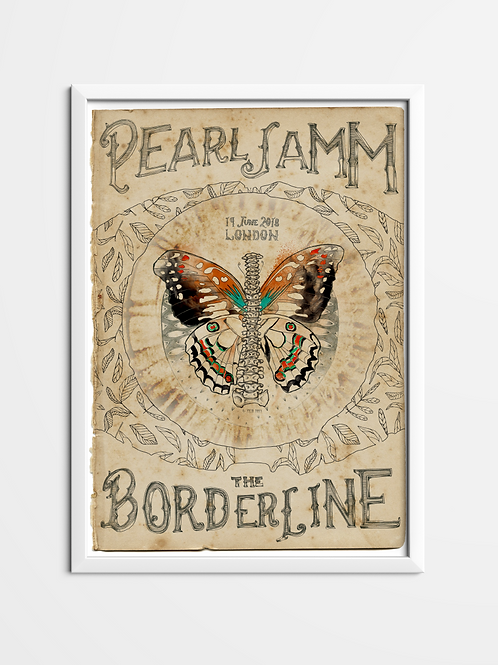Pearl Jamm Poster - Borderline - London