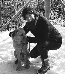 snow dog walk