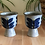 Thumbnail: Set of 2 Small Hand Painted Goblet Glasses
