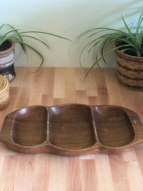 Vintage Teak Wood Serving Dish