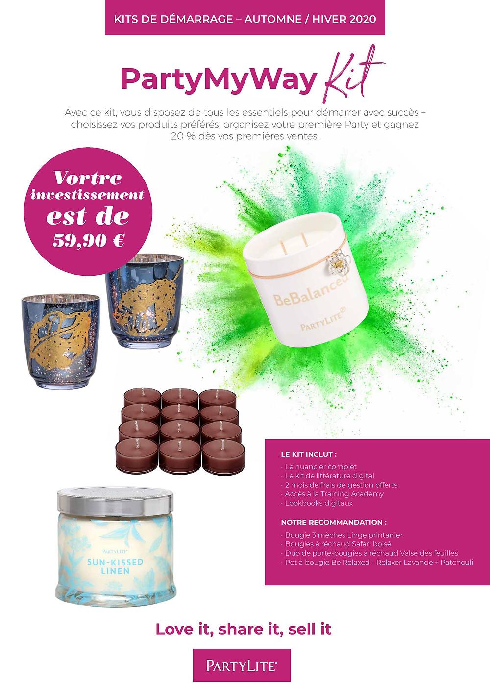 vente en ligne de bougie parfumées partylite