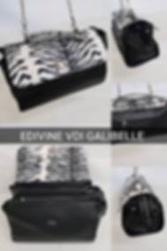catalogue 2019 - sacs galibelle  medium noir  rabat zebre