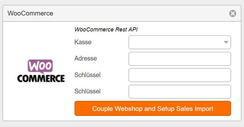 Schnittstelle WooCommerce  Kassensystem