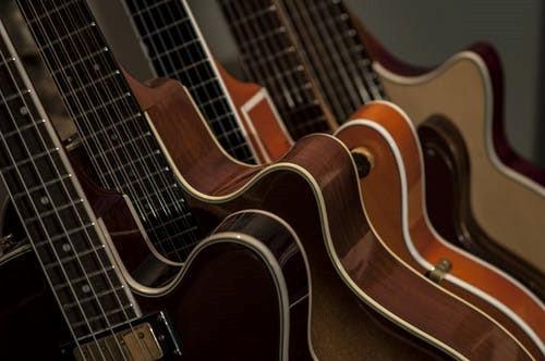 Various high performance guitars