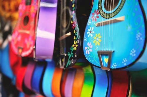 Colorful high performance guitars