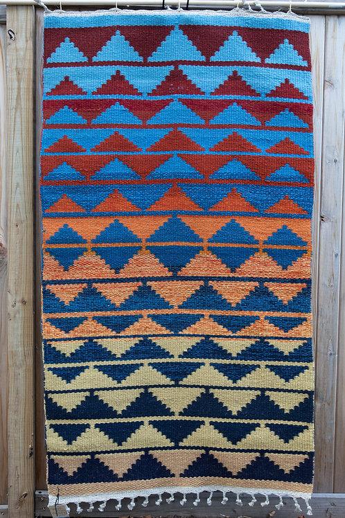 Geometric Wool Rug in Southwestern Colors