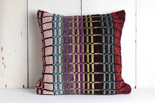 Multicolor Plaid Pillow