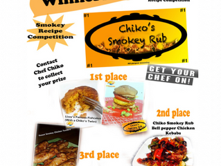 The Winners of the First ever Chiko's Smokey Rub Recipe Competition