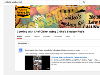 "New Youtube Cooking Channel - ""Cooking with Chef Chiko, using Chiko's Smokey Rub's&quot"