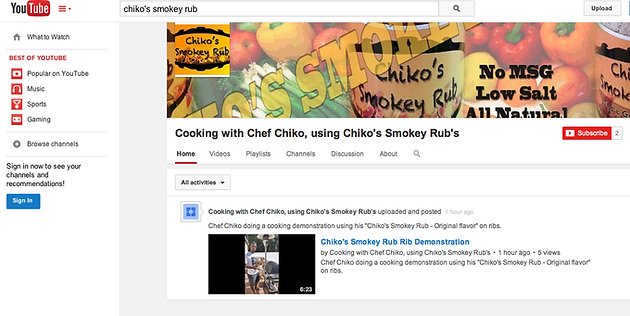 """New Youtube Cooking Channel - """"Cooking with Chef Chiko"""