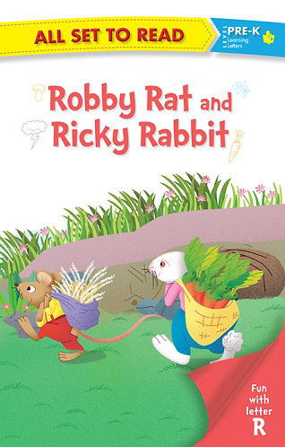 All set to Read fun with latter R Robby Rat and Ricky Rabbit
