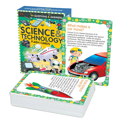 Flash Cards: 99 Questions and Answers Science and Technology Flash Cards