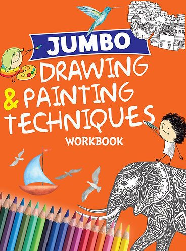 Jumbo Drawing & Painting Techniques Workbook