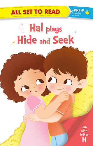 All set to Read fun with latter H Hal Plays Hide and Seek