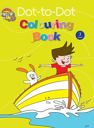 Dot-to-Dot colouring book level -3