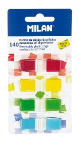 Removable plastic page markers 4 colours, 140 sheets