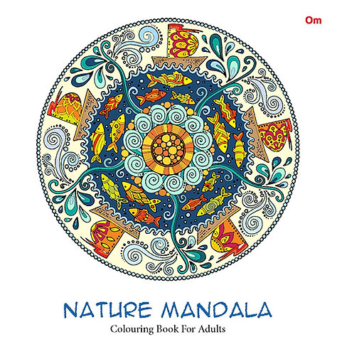 Nature Mandala Colouring Book for Adult