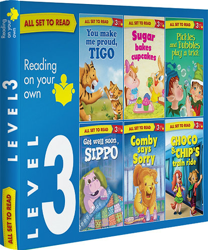 All Set TO Read Readers Level- 3 Box