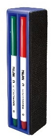 Magnetic board eraser + 4 whiteboard markers