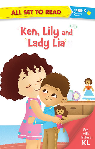All set to Read fun with latter K L Ken, Lily and Lady Lia