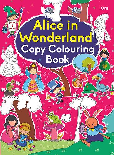 COPY COLOURING BOOK ALICE IN WONDERLAND