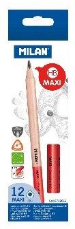Box 12 Maxi triangular graphite pencils