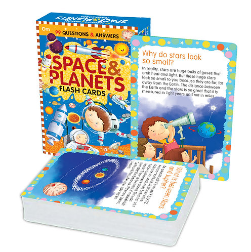Flash Cards: 99 Questions and Answers Space and Planets Flash Cards