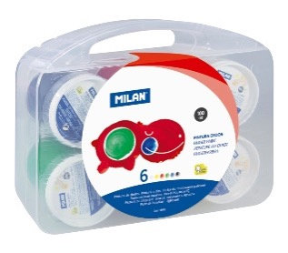Box of 6 jars of 100ml finger paint assorted colours