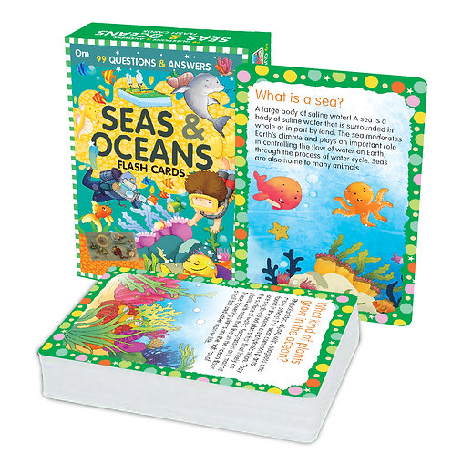 Flash Cards: 99 Questions and Answers Seas and Oceans Flash Cards