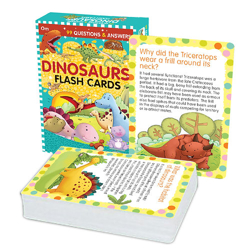 Flash Cards: 99 Questions and Answers Dinosaurs Flash Cards