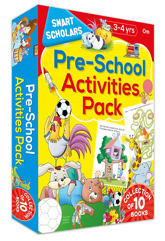 Pre-School Activities Pack ( Collection of 10 books) (Smart Scholars)