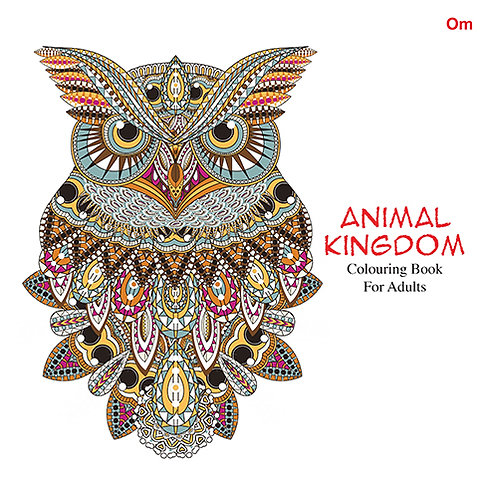 Animal Kingdom Colouring Book For Adult