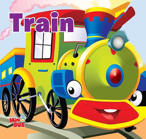Train : Cutout Board Book