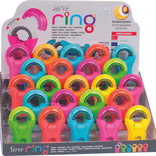 SERVE RING ERASER & SHARPENER COMBO