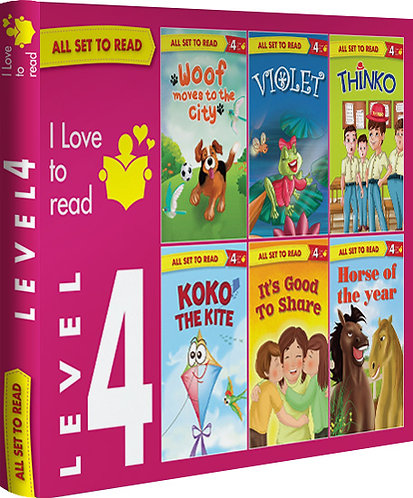 All Set TO Read Readers Level- 4 Box