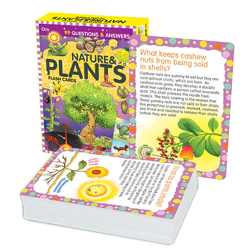 Flash Cards: 99 Questions and Answers Natures and Plants Flash Cards