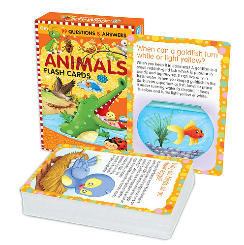 Flash Cards: 99 Questions and Answers Animals Flash Cards