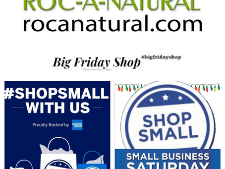 Roc-A-Natural Big Friday and Small Business Saturday Outdoors Pop-Up Shop!