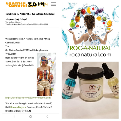 ROC'N Wednesday! Shop Roc-A-Natural @ Go Africa Carnival 2019