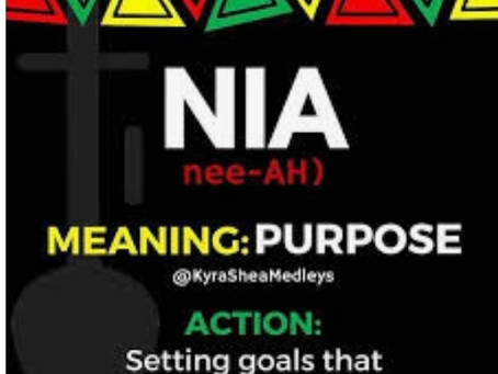 ROC'N Wednesday! Habari Gani! Nia(Purpose)