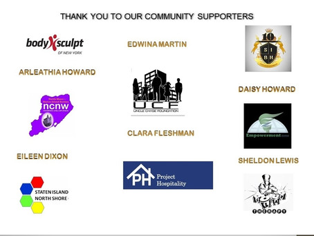 Thank you to our community supporters