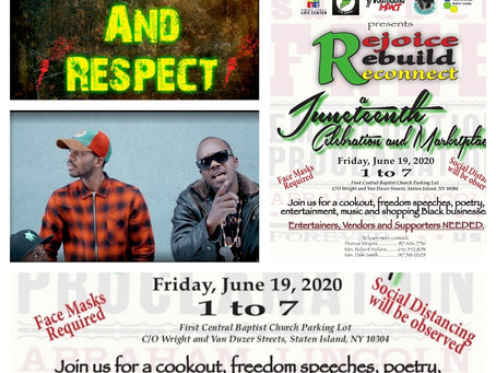 Manners and Respect with Jah Jah Beats and I-am-I at the Juneteenth Celebration & Marketplace
