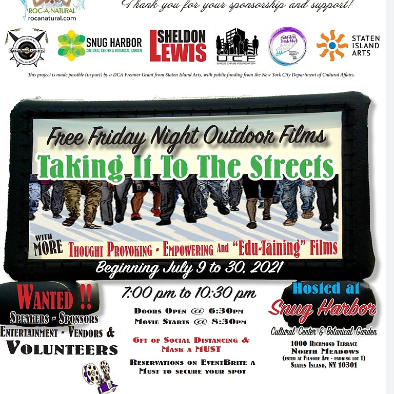 2nd Annual Taking It To The Streets: Free Friday Night Outdoor Films  (1)