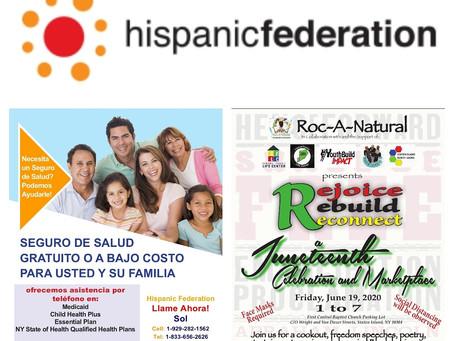 Welcome Soledad Ahuatl, Hispanic Federation at the Juneteenth Celebration & Marketplace!