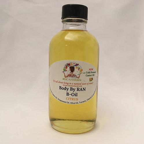 4oz B-Oil-CITRUS(CIT) w/Cold Pressed Castor Oil